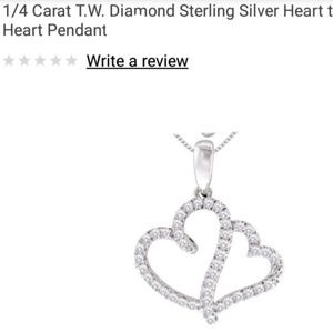 Jewelry - 1/4 Carat Heart to Heart Necklace Sterling Silver
